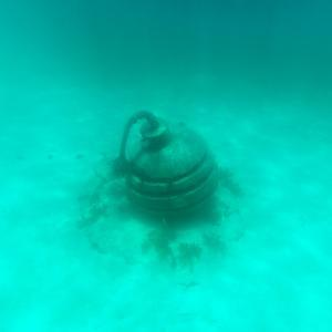 ¡Viva Mexico! Square Collection - Sculptures at bottom of sea in Cancun II by Philippe Hugonnard