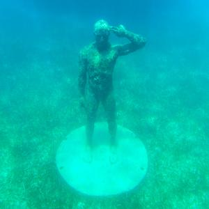 ¡Viva Mexico! Square Collection - Sculptures at bottom of sea in Cancun by Philippe Hugonnard