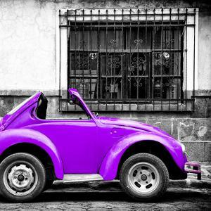 ¡Viva Mexico! Square Collection - Small Purple VW Beetle Car by Philippe Hugonnard