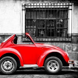 ¡Viva Mexico! Square Collection - Small Red VW Beetle Car by Philippe Hugonnard