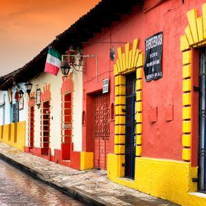¡Viva Mexico! Square Collection - Street Scene in San Cristobal de Las Casas II by Philippe Hugonnard