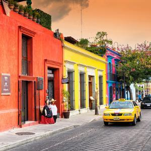¡Viva Mexico! Square Collection - Street Scene Oaxaca IV by Philippe Hugonnard