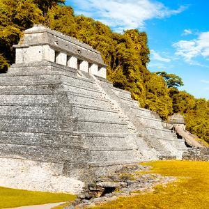 ¡Viva Mexico! Square Collection - Temple of Inscriptions in Palenque III by Philippe Hugonnard