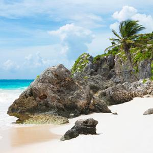 ¡Viva Mexico! Square Collection - Tulum Caribbean Coastline III by Philippe Hugonnard
