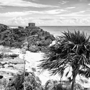 ¡Viva Mexico! Square Collection - Tulum Ruins along Caribbean Coastline I by Philippe Hugonnard