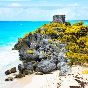 ¡Viva Mexico! Square Collection - Tulum Ruins along Caribbean Coastline XI by Philippe Hugonnard