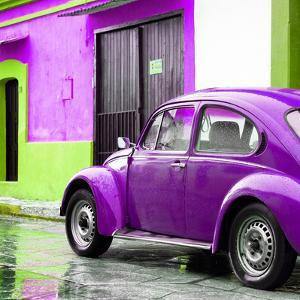 ¡Viva Mexico! Square Collection - VW Beetle and Purple Wall II by Philippe Hugonnard