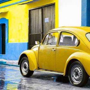 ¡Viva Mexico! Square Collection - VW Beetle and Yellow Wall II by Philippe Hugonnard