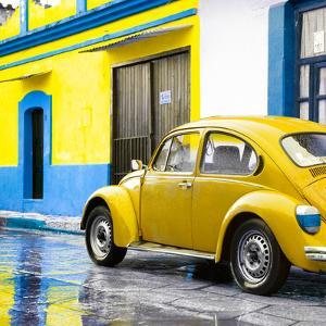 ¡Viva Mexico! Square Collection - VW Beetle and Yellow Wall by Philippe Hugonnard