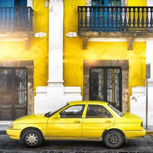 ¡Viva Mexico! Square Collection - Yellow Campeche II by Philippe Hugonnard