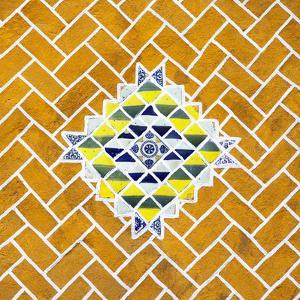¡Viva Mexico! Square Collection - Yellow Mosaics by Philippe Hugonnard