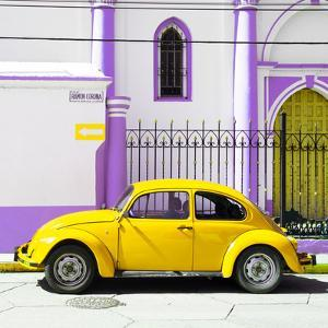¡Viva Mexico! Square Collection - Yellow VW Beetle in San Cristobal by Philippe Hugonnard