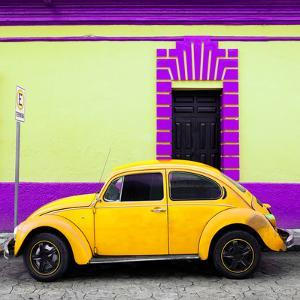 ¡Viva Mexico! Square Collection - Yellow VW Beetle - San Cristobal by Philippe Hugonnard