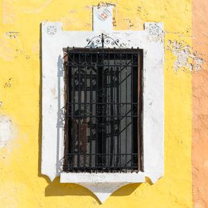 ¡Viva Mexico! Square Collection - Yellow Wall & Black Window by Philippe Hugonnard