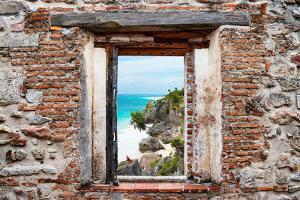 ¡Viva Mexico! Window View - Caribbean Coastline in Tulum by Philippe Hugonnard