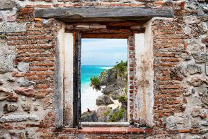 ¡Viva Mexico! Window View - Caribbean Coastline in Tulum by Philippe Hugonnard