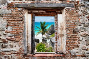 ?Viva Mexico! Window View - Caribbean Coastline in Tulum by Philippe Hugonnard
