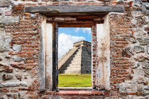 ¡Viva Mexico! Window View - El Castillo Pyramid of the Chichen Itza by Philippe Hugonnard