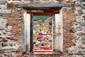 ¡Viva Mexico! Window View - Guanajuato Colorful City by Philippe Hugonnard