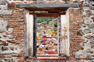 ¡Viva Mexico! Window View - Guanajuato Colorful City by Philippe Hugonnard