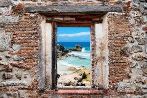 ?Viva Mexico! Window View - Isla Mujeres Coastline by Philippe Hugonnard