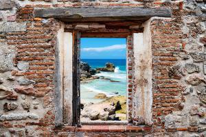 ?Viva Mexico! Window View - Isla Mujeres Coastline by Philippe Hugonnard