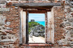 ¡Viva Mexico! Window View - Tulum Ruins by Philippe Hugonnard