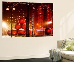 Wall Mural - Christmas Decorations of the Radio City Music Hall - Manhattan - New York by Philippe Hugonnard