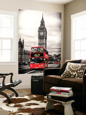 Wall Mural - London Red Bus and Big Ben - London - UK - England - United Kingdom - Europe by Philippe Hugonnard