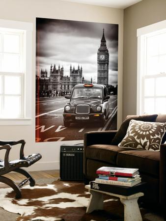 Wall Mural - London Taxi and Big Ben - Black Cabs - London - UK - England - Europe by Philippe Hugonnard