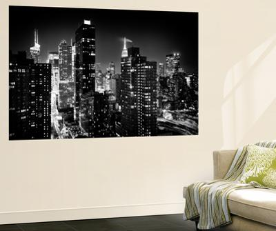 Wall Mural - Manhattan at Night - Times Square and Empire State Building - New York City by Philippe Hugonnard