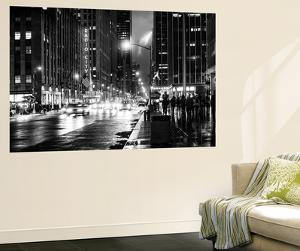 Wall Mural - Manhattan at Night with The Radio City Music Hall - New York - USA by Philippe Hugonnard