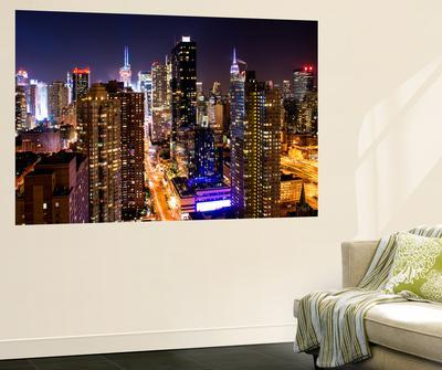 Wall Mural   Manhattan Cityscape At Night   Times Square   New York City    USAPhilippe Hugonnard Part 54