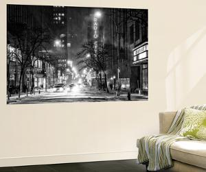 Wall Mural - Manhattan in the Snow at Night - The Radio City Music Hall - New York - USA by Philippe Hugonnard