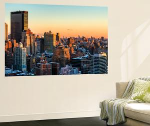 Wall Mural - Manhattan Landscape with the New Yorker Hotel at Sunset - New York - USA by Philippe Hugonnard