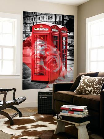 Wall Mural   Phone Booths   UK Red Phone   Art Deco   London   UK   England    United KingdomPhilippe Hugonnard Part 49