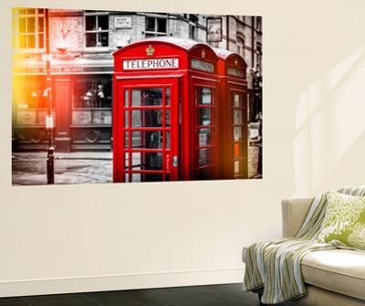 Wall Mural - Red Telephone Booths - London - UK - England - United Kingdom - Europe by Philippe Hugonnard