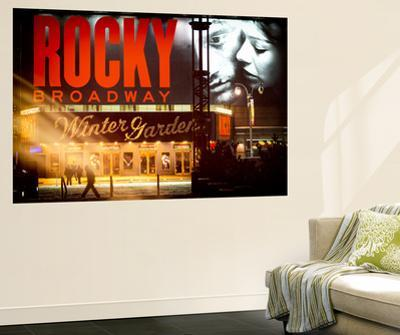Wall Mural - Rocky Broadway Musical - Winter Garden Theatre - Manhattan - New York by Philippe Hugonnard