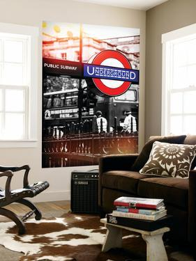 Wall Mural - The London Underground Sign - Public Subway - UK - England - United Kingdom - Europe by Philippe Hugonnard