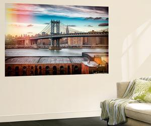 Wall Mural - The Manhattan Bridge and the Empire State Building of Brooklyn - Manhattan - New York by Philippe Hugonnard