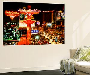 Wall Mural - The Strip - Las Vegas at Night - Nevada - USA by Philippe Hugonnard