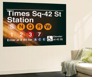 Wall Mural - Times Square Subway Sign - 42nd Street Station - Manhattan - New York by Philippe Hugonnard