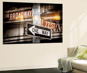 Wall Mural - Urban Sign - Broadway Sign - Manhattan - New York City by Philippe Hugonnard