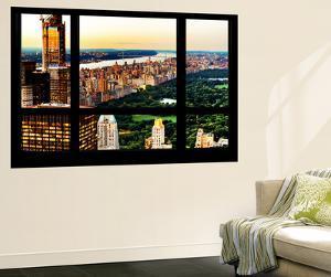 Wall Mural - Window View - Center Park at Sunset - Manhattan - New York by Philippe Hugonnard