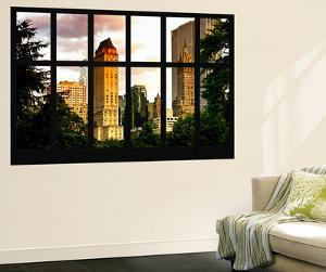 Wall Mural - Window View - Center Park Buildings at Sunset - Manhattan - New York by Philippe Hugonnard