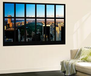 Wall Mural - Window View - Central Park at Sunset - Manhattan - New York by Philippe Hugonnard