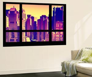 Wall Mural - Window View - City of NYC - Buildings of Times Squares - Manhattan - New York by Philippe Hugonnard