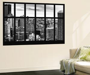 Wall Mural - Window View - Cityscape of Manhattan - New York - USA by Philippe Hugonnard