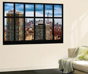 Wall Mural - Window View - Cityscape of Manhattan with the One World Trade Center - New York by Philippe Hugonnard