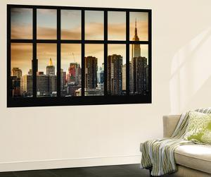 Wall Mural - Window View - Landscape of Manhattan with the Chrysler Building - New York by Philippe Hugonnard